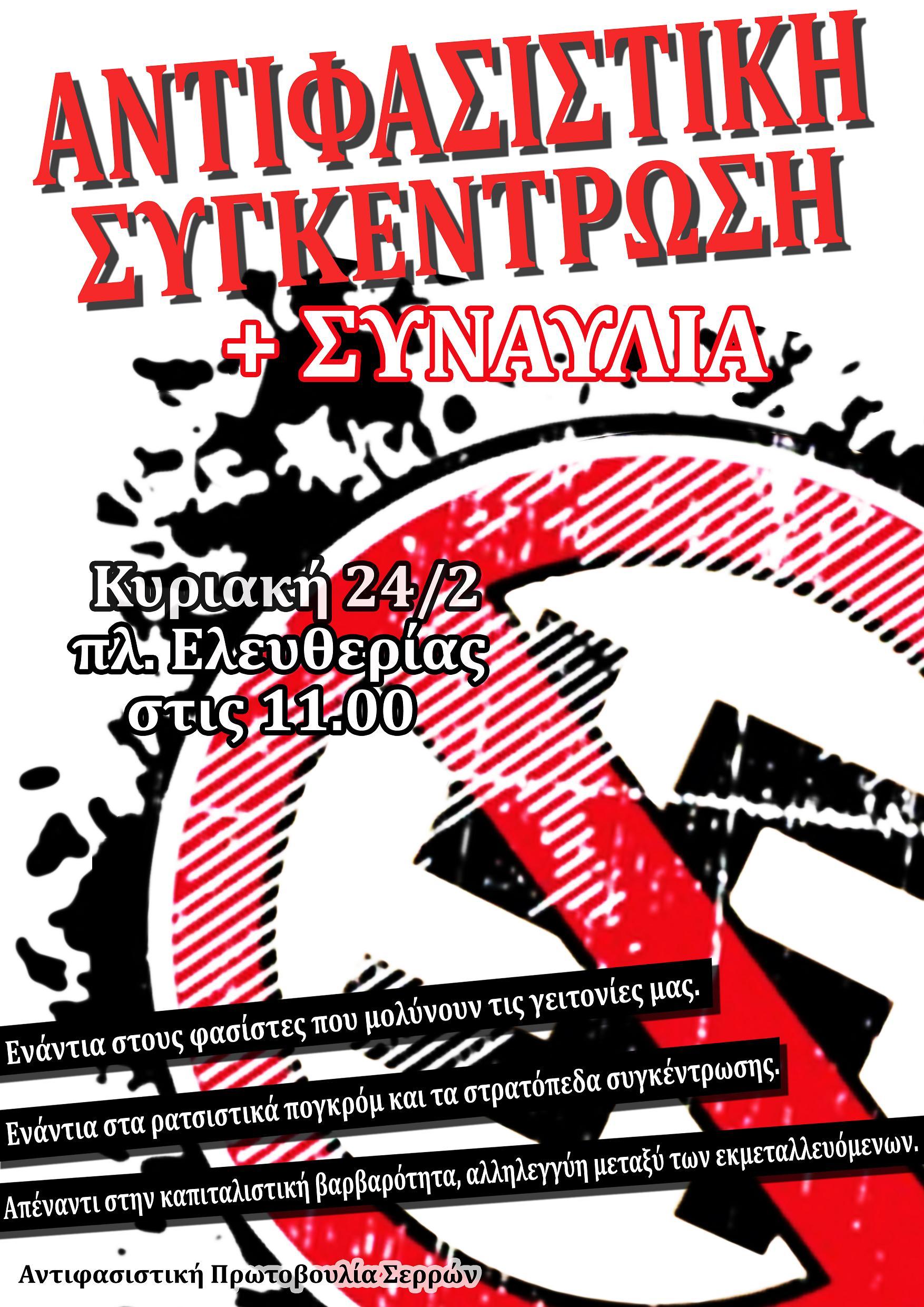 Σέρρες 2013.02.24 (Συναυλία-Εκδήλωση) - αφίσα